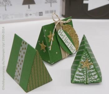 Weihnachtliche Verpackungen mit Stempelset Christmas Festival