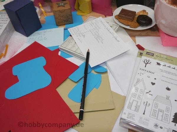 Bastelanleitungen und kreative Pause