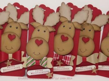 Stanze gewellter Anhänger mit Weihnachts-Elch