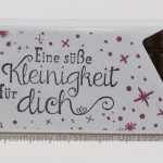 """Schokolade mit Stempelset """"Für Leib und Seele"""""""