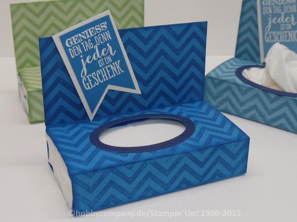 Anleitung Geschenkverpackung, Taschentücherbox