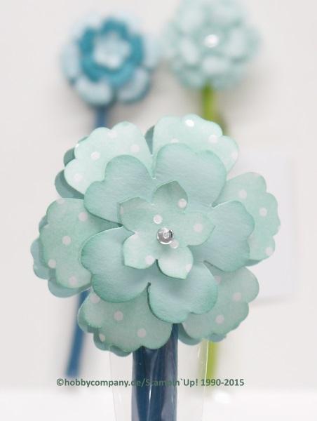 Frühlingsblume mit Blumenstanzen von Stampin Up