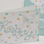 Grußkarte und Briefumschlag mit dem Falzbrett
