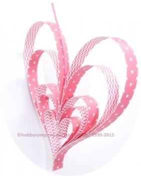 Herz aus Papierstreifen zum Muttertag