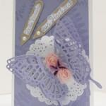 Hochzeitskarte mit Schmetterlingsgruß