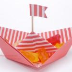 Papierschiff mit Umschlagpapier von Stampin`Up!