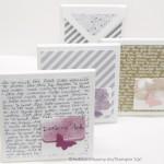 Verpackung mit dem Stanz-und-Falzbrett für Briefumschläge