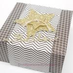 Glitter-Box mit dem Stanz-und Falzbrett für Briefumschläge
