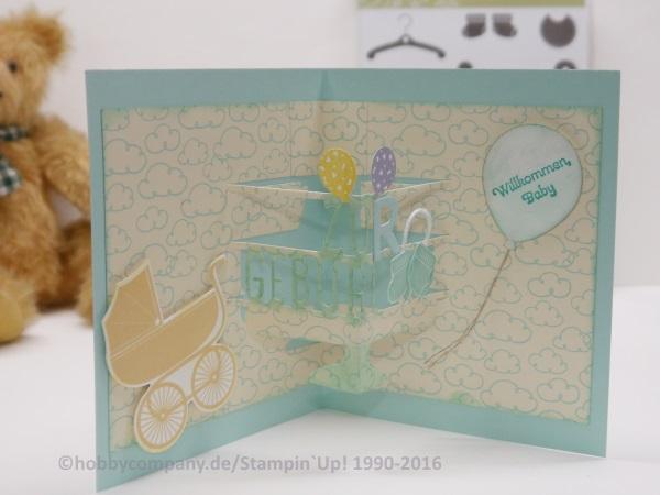 Pop-up Karte zur Geburt