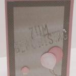 Pop-up Geburtstagskarte mit Thinlits von Stampin Up