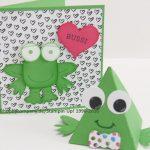Frosch-Karte mit Produktpaket Playful Pals
