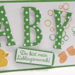 Framelits Buchstaben Baby-Karte