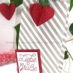 Erdbeeren, basteln mit Papier und Big Shot