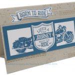Motorrad-Grußkarte