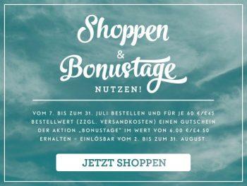 Bonustage Gutschein-Aktion von Stampin up
