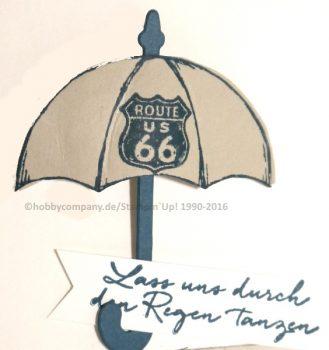 Regenschirm basteln-Stempelset Donnerwetter und One wild ride