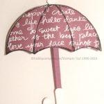 Regenschirme basteln-Stempelset Donnerwetter
