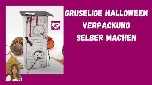 Anleitung Halloween Geschenkverpackung