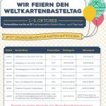 Weltkartenbasteltag 2016