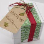schnelle weihnachtliche Verpackung
