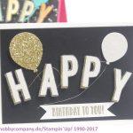 Geburtstagskarte basteln einfach und schnell