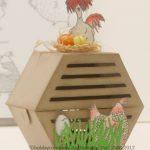 Osterbastelidee ein Hühnerstall Anleitung