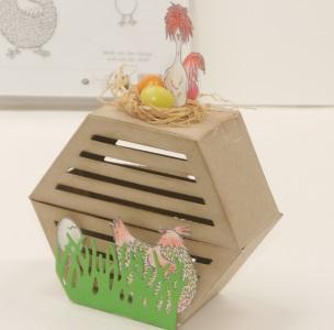 Osterbastelidee ein Hühnerstall – Anleitung