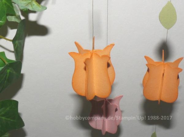 Papierblume Tulpe mit der Eulenstanze
