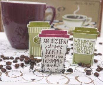 Tischdeko Kaffeebecher