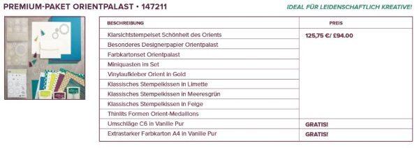 Orientpalast Stampin Up! Katalog 2017 Premiumpaket