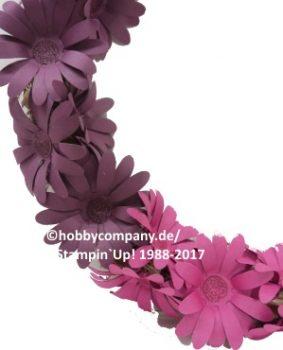 Papierblumen-Kranz mit der Stanze Gänseblümchen von Stampin Up!