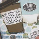 Grußkarte Kaffeebecher