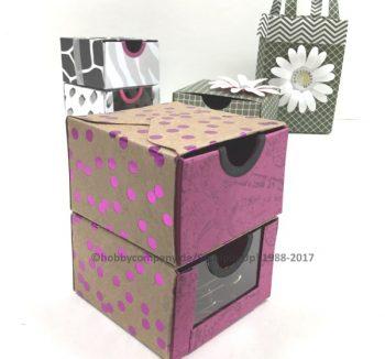 Schubladenbox mit dem Stanz-und Falzbrett