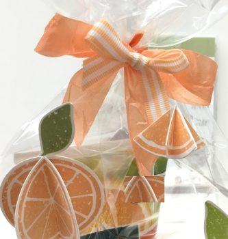 sommerliche Geschenkverpackung