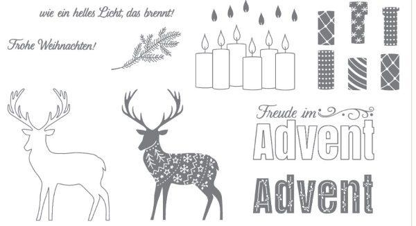 Freude im Advent Stempelset