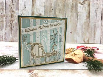 Weihnachtskarte im Wald