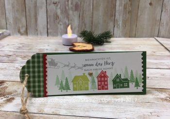 Weihnachten daheim Grußkarte