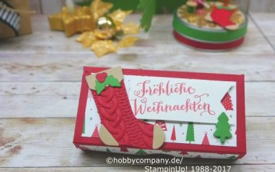 Teelicht Verpackung weihnachtlich