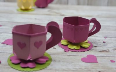 Mini-Tasse mit Stampin Up Stanze
