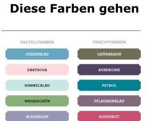 Diese Farben gehen