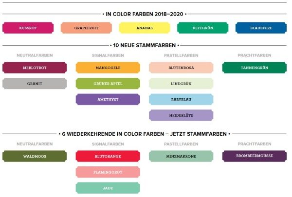 die neuen Farben von Stampin Up