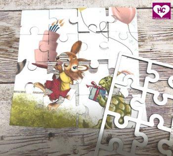 Puzzle-Karte basteln