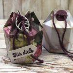 Eine Mini-Verpackung für Pralinen basteln