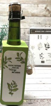 Eine Flasche verpacken Basteltipp