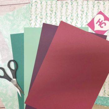 Grußkarte Eisblüten gestalten