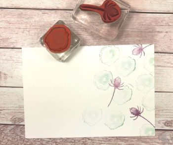Grußkarrte Eisblüten gestalten