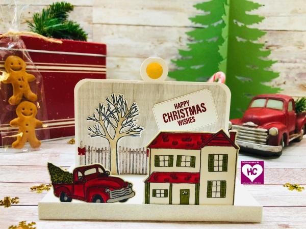 Weihnachtskarte basteln mit Farmhouse Christmas
