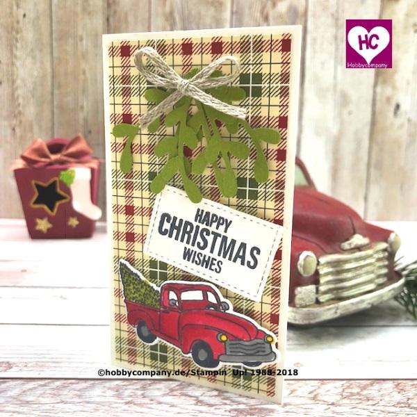 Kleine Weihnachtskarte gestalten