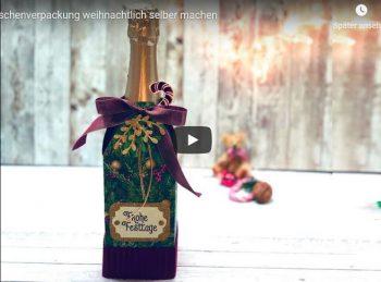 Flaschenverpackung selber machen