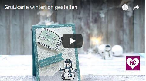 Grußkarte winterlich gestalten